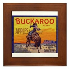 Buckaroo Apples Framed Tile