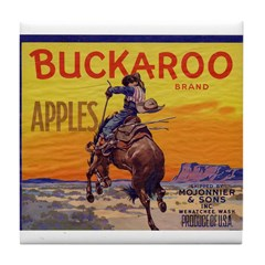 Buckaroo Apples Tile Coaster