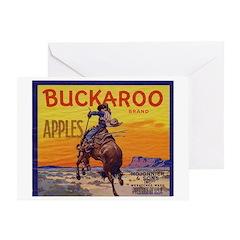 Buckaroo Apples Greeting Card