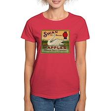 Swan Apples Women's Dark T-Shirt