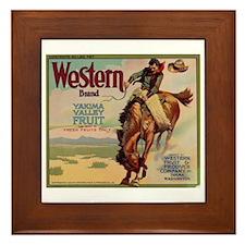 Western Yakima Valley Fruit Framed Tile