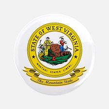 "West Virginia Seal 3.5"" Button"