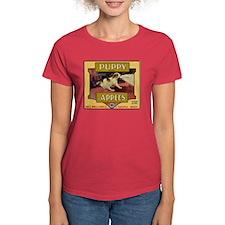 Puppy Apples Women's Dark T-Shirt