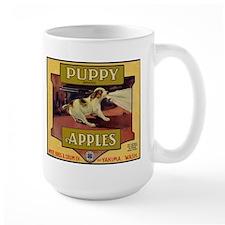 Puppy Apples Large Mug