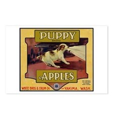 Puppy Apples Postcards (Package of 8)