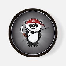 Pirate Panda Wall Clock