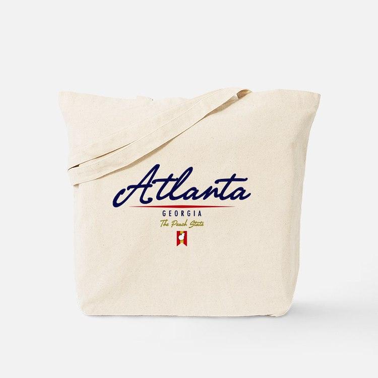 Atlanta Script Tote Bag