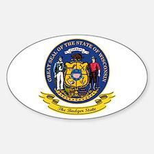 Wisconsin Seal Sticker (Oval)