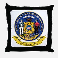 Wisconsin Seal Throw Pillow