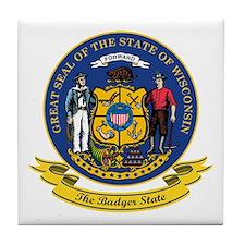 Wisconsin Seal Tile Coaster