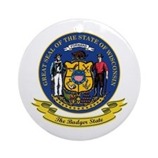 Wisconsin Seal Ornament (Round)