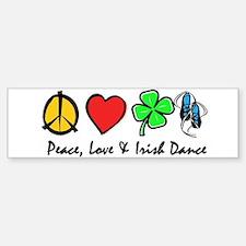 Peace Love Irish Dance Bumper Bumper Sticker