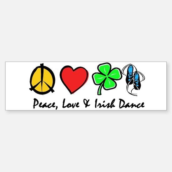 Peace Love Irish Dance Sticker (Bumper)