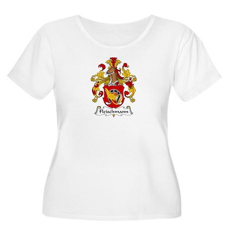 Fleischmann Women's Plus Size Scoop Neck T-Shirt