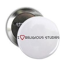 I Love Religious Studies Button