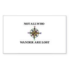 All Who Wander Decal