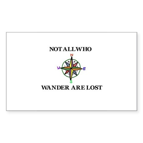 All Who Wander Sticker (Rectangle)
