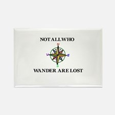 All Who Wander Rectangle Magnet