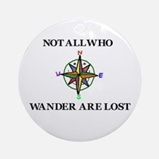 All Who Wander Ornament (Round)