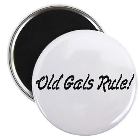 "Old Gals Rule! 2.25"" Magnet (100 pack)"