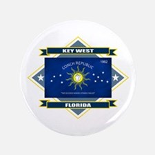 "Key West Flag 3.5"" Button"