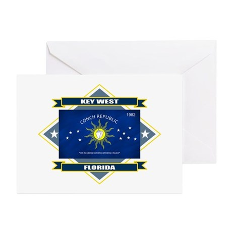 Key West Flag Greeting Cards (Pk of 10)