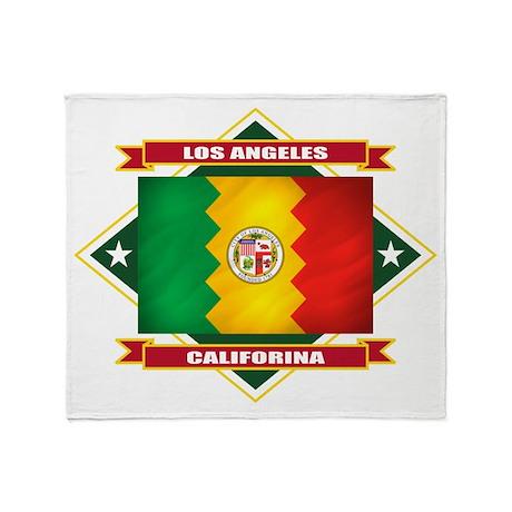 Los Angeles Flag Throw Blanket