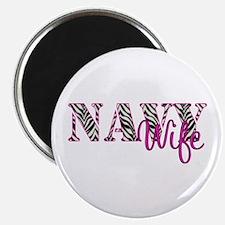 """Navy Zebra Wife 2.25"""" Magnet (100 pack)"""