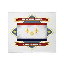 New Orleans Flag Throw Blanket