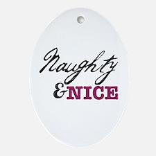 Naughty & Nice Ornament (Oval)