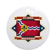 St Louis Flag Ornament (Round)
