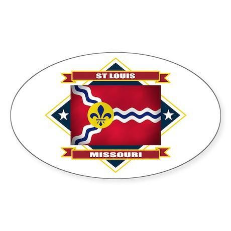 St Louis Flag Sticker (Oval)
