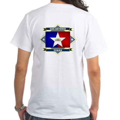 San Antonio Flag White T-Shirt