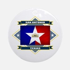 San Antonio Flag Ornament (Round)