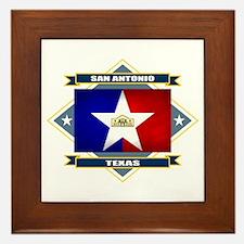 San Antonio Flag Framed Tile