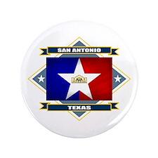 """San Antonio Flag 3.5"""" Button"""