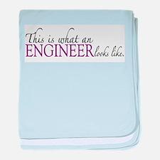 What an ENGINEER looks like baby blanket