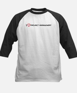 I Love Project Management Kids Baseball Jersey