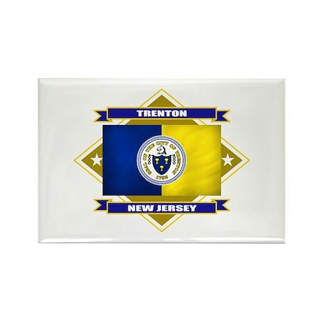 Trenton Flag Rectangle Magnet