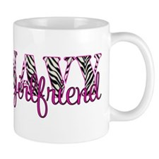 Navy Zebra Girlfriend Mug