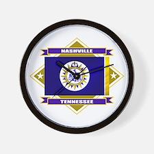 Nashville Flag Wall Clock