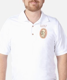 Baby due in February Golf Shirt