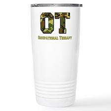 Green Camo Travel Mug