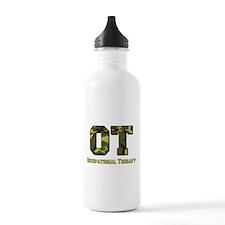Green Camo Sports Water Bottle
