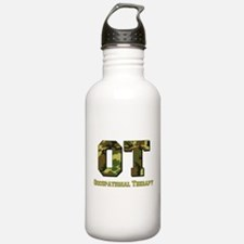 Green Camo Water Bottle