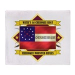 1st Cherokee Regiment Throw Blanket