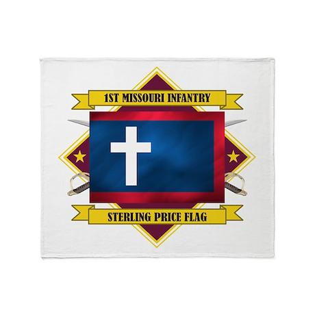 1st Missouri Infantry Throw Blanket