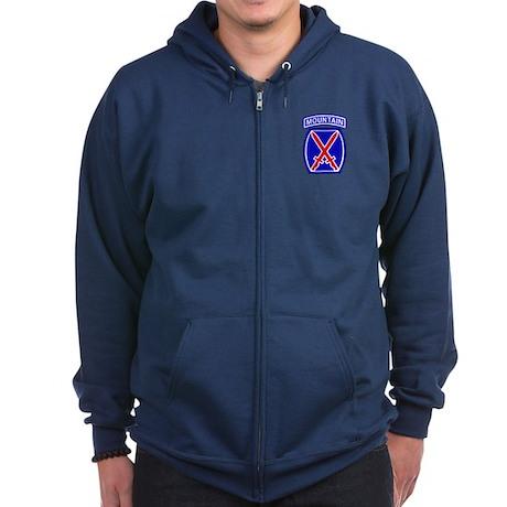 10th Mountain Division Zip Hoodie (Dark)