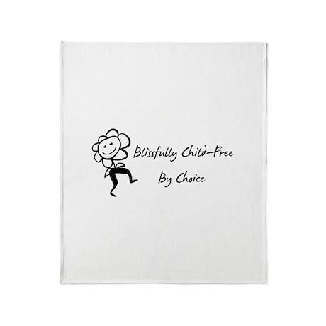 Blissfully Child-Free Throw Blanket