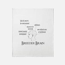 Breeder Brain Throw Blanket